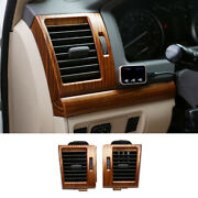 Wood Grain Left And Right Air Outlet Vent Trim For Toyota Land Cruiser 2008-2021