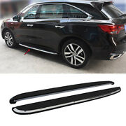 Black Running Board Side Step Nerf Bar Pedal 2pcs Fit For Acura Mdx 2015-2020
