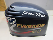 0285390 Johnson Evinrude Ficht Blue Top Engine Motor Cover Cowling Hood 225 Hp