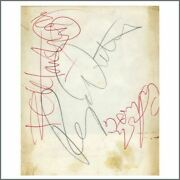 The Who 1960s Autographed Fan Club Card Uk