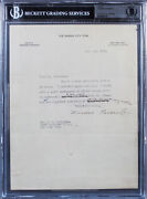 Theodore Roosevelt Authentic Signed 8.5x11 Letter Dated July 3rd, 1918 Bas Slab