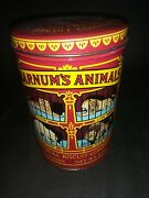 Retired Discontinued Design Barnums Animal Crackers Tin 1979 Circus