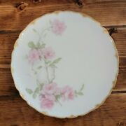 Haviland And Co France Limoges 8 1/2 Luncheon/salad Plate, Baltimore Rose Pink