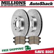 Front Performance Drilled Slotted Brake Rotors And Semi Metallic Pads Kit