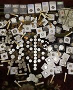 ☆ Coin Lot From Old Estate Hoard ☆ Old Us Coins Gold Silver ☆