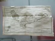 1764 Antique Map Plan Of The Isle Of Juan Fernandez Sea South Chile