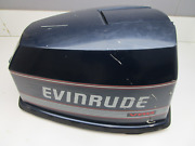 Evinrude Johnson 90 Hp V4 Vro Blue Motor Cowl Engine Cover Top Cowling Hood