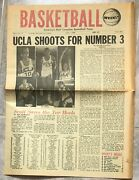 Basketball Weekly Ucla Shoots For Number 3 Lew Alcindor Front Page Photo 4/1/69