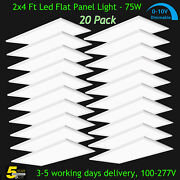 20 Pack 2x4 Ft Led Panel Light Drop Ceiling Flat Panel Recessed Troffer Fixture