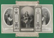 Triptych - Perseverance Devotion Antique 4 Levels Lace W/ Gold Holy Card