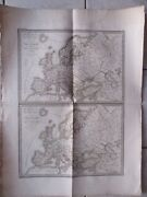 Large Map Geographic Former In Colours 1830 Europa On 350 And End 3° Siecl