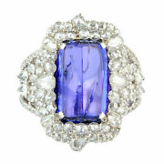 Natural Tanzanite Gemstone Solid 925 Sterling Silver Wedding Womens Ring Jewelry