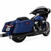 Vance And Hines Monster Round Slip Ons Black With Chrome Tips-45780
