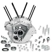 Sands Cycle Super Stock Engine Case - Natural - Big Bore 3 5/8in Bore - 31-0001