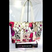 Coach Poppy Kyra Grafitti Flower Travel Duffle Bag 77303 Set❣ Tote Weekender