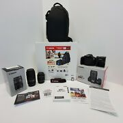 Canon Eos Rebel T7 Dslr Camera With 2 Zoom Lens 18-55mm And 75-300mm