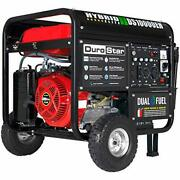 Dual Fuel Portable Generator-10000 Watt Electric Start-home Back Up And Rv Ready
