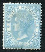 British Honduras Sg1 1d Pale Blue Lovely Mint Example Cat From 70 Pounds
