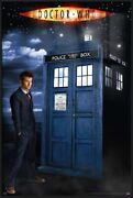 Doctor Who - Framed Glow In The Dark Poster David Tennant And Tardis 25 X 37