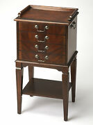 Chests - Brighton Silver Chest - Flatware Chest - Cherry Finish - Free Shipping
