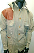 Vintage German Duck Hunting Shooting Olive Green Canvas Field Jacket Size 46