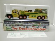 Hess 2002 Collectible Toy Truck And Airplane Collectible Gold-yellow Color Nib