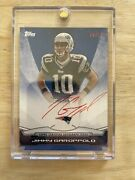 2014 Topps Rookie Premiere Photo Shoot Red Autograph Jimmy Garoppolo 9/10 Rc