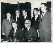 1961 Press Photo Robert Kennedy In Press Conference With Attorneys - Rsg80431