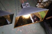 Mid Century Perenco Mirrored Industrial Haberdashery Lamps Pendants Lights