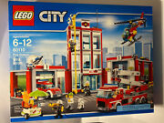 Lego City Fire Station 60110 Factory Sealed New In Box Retired Set 2016 Nib