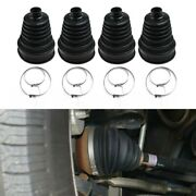 Rubber Split Cv Drive Shaft Boot + Clamps Kit Universal Round Clamp Replacement