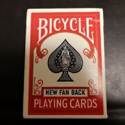 Rare Vintage Bicycle Playing Cards Poker Red New Fan Back From Japan Used