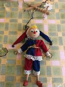 Vintage Wooden Pinocchio Marionette Puppet Doll Approx 14 Tall Hand Carved