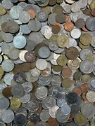 Large Bulk Mixed Lot Of 100 Assorted Foreign Coins From Around The World