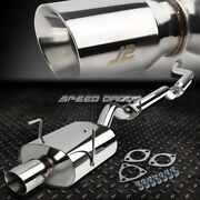 J2 Stainless Catback Exhaust 3.5 Rolled Tip Muffer For 03-05 Civic Ep3 3-door