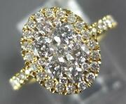 Estate Large 1.02ct Diamond 18kt Yellow Gold 3d Cluster Halo Classic Love Ring