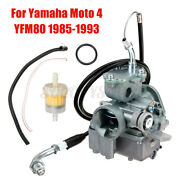 Performance Carburetor Carb And Throttle Cable For Yamaha Moto 4 Yfm80 1985-1993