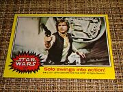 1977 Star Wars Yellow Border Sci Fi Trading Card 177 Solo Swings Into Action