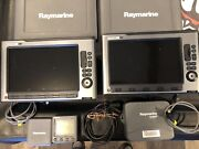 Raymarine E140w 14and039and039 Mfd Touchscreen Display + Suncoverandpower/data Cable X2