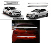 Renault Clio Iv Hb Chrome Rear Tailgate Lid Coverandside Door Stripandfront Grill