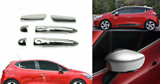 2012-2016 Renault Clio Iv 4 Hb Chrome Mirror Covers And Door Handle Covers Sensore