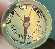 Vtg 1987 - The Charcoal Companion Meat Thermometer Steak Button Rare Medium Well