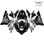 Ntu Injection West Black New Fairing Kit Fit For Kawasaki 2004 05 Zx10r Abs E015