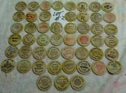 Lot 2 Of 50 Different - Wooden Nickels - Nice - All 0ver 30 Years Old