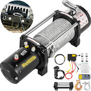 12v Electric Winch 8000ibs 94ft Steel Cable With Wireless Remote Control Utv Atv