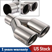 Stainless Steel Dual Exhaust Tips Pipe 2.25 Inlet 3outlet 9.5 Long Tail Pipe
