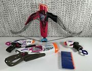 Lot Of 4 Nerf Rebelle 3-guns +1 Bow. Tested Includes 10 Darts
