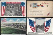 Us 1910 1919 Wwi Six Military Army Navy Post Cards All Old Glory Us Flag Desig