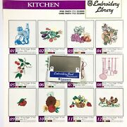 Kitchen Embroidery Designs Card For Husqvarna Viking Sewing Machines