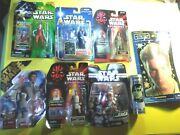 6 Star Wars Collectible Action Figures ++- New In Packages